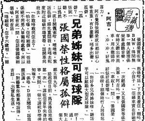 1983.5.9 张国荣性格属孤僻
